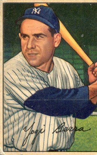 Photo of 1952 Bowman #1 Yogi Berra -- Yankees Hall of Famer