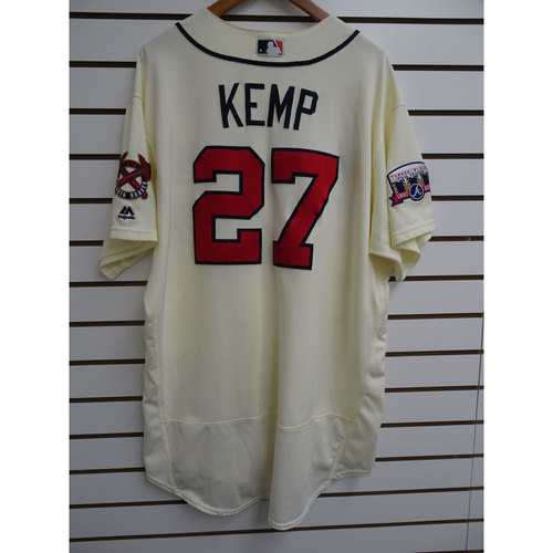 Photo of Matt Kemp Game-Used Jersey Worn during the Final Game at Turner Field