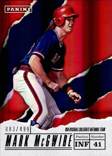 Photo of 2017 Panini Father's Day USA Baseball #USA6 Mark McGwire 83/499