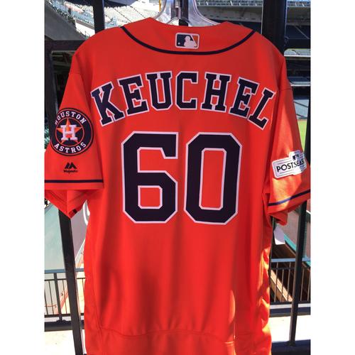 Photo of ALCS Game 5 Dallas Keuchel Game-Used Orange Jersey