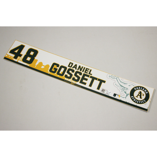 Photo of Daniel Gossett 2017 Home Clubhouse Locker Nameplate