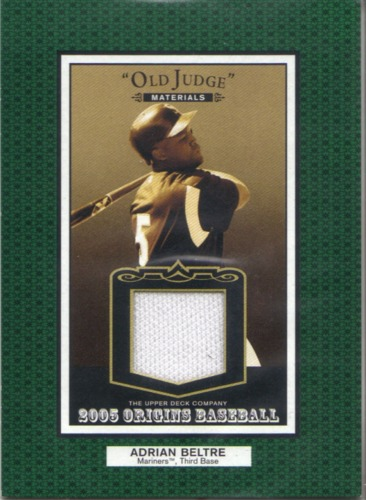 Photo of 2005 Origins Old Judge Materials Jersey #AB Adrian Beltre