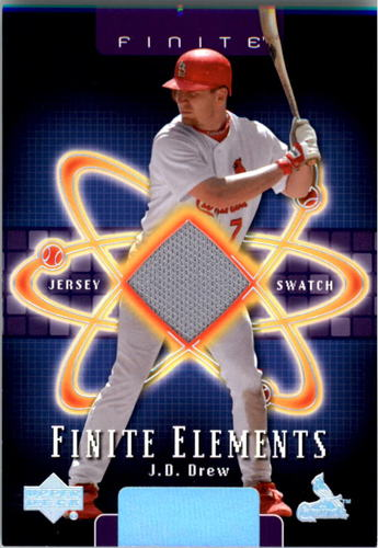 Photo of 2003 Upper Deck Finite Elements Game Jersey #JD J.D. Drew