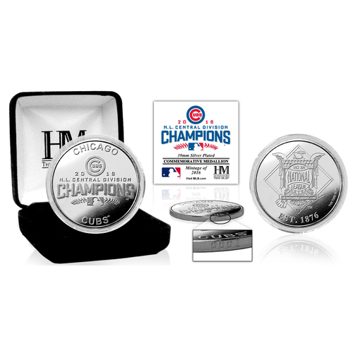 Photo of Serial #1! Chicago Cubs 016 NL Central Division Champions Silver Mint Coin