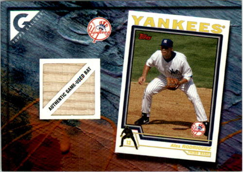 Photo of 2005 Topps Gallery Heritage Relics #AR Alex Rodriguez 04 Bat
