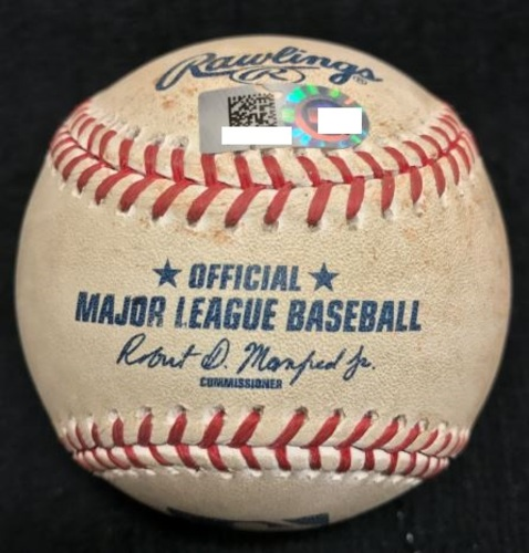 Photo of Game-Used Baseball from Pirates vs. Diamondbacks on 8/18/15 - Reed to Cervelli, Single