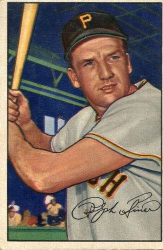 Photo of 1952 Bowman #11 Ralph Kiner -- Pirates Hall of Famer