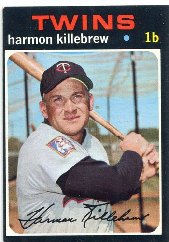 Photo of 1971 Topps #550 Harmon Killebrew -- Twins Hall of Famer