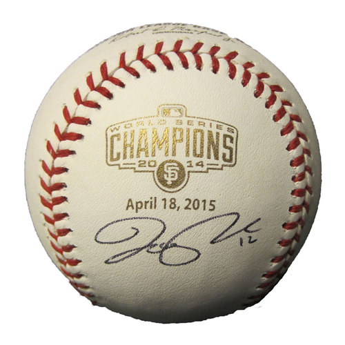San Francisco Giants - Joe Panik Autographed Champions Baseball