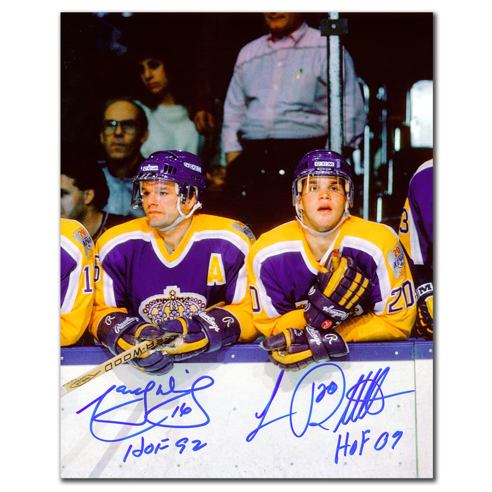Marcel Dionne & Luc Robitaille Los Angeles Kings HOF Dual Autographed 8x10