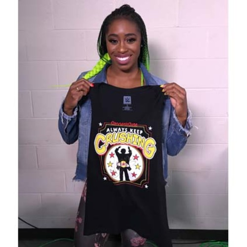 "Photo of Naomi WORN & SIGNED Connor's Cure ""Crush"" T-Shirt (Connors Cure - 09/05/17)"