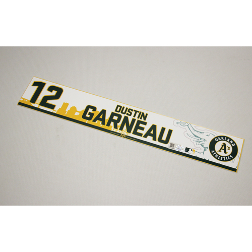 Dustin Garneau 2017 Home Clubhouse Locker Nameplate