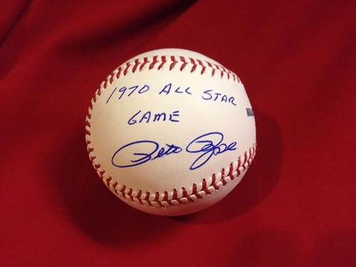 "Photo of Pete Rose ""1970 All-Star Game"" Autographed Baseball"