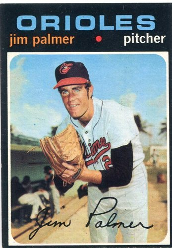 Photo of 1971 Topps #570 Jim Palmer -- Orioles Hall of Famer