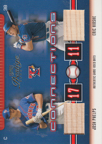 Photo of 2003 Playoff Prestige Connections Materials #69 Josh Phelps Bat/Eric Hinske Bat