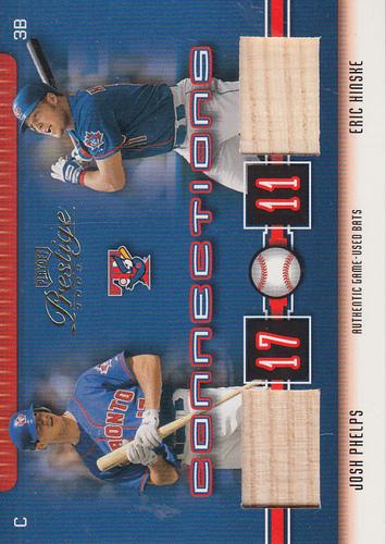 Photo of 2003 Playoff Prestige Connections Materials #69 Josh Phelps Bat/Eric Hinske Bat