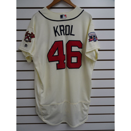 Photo of Ian Krol Game-Used Jersey Worn during the Final Game at Turner Field
