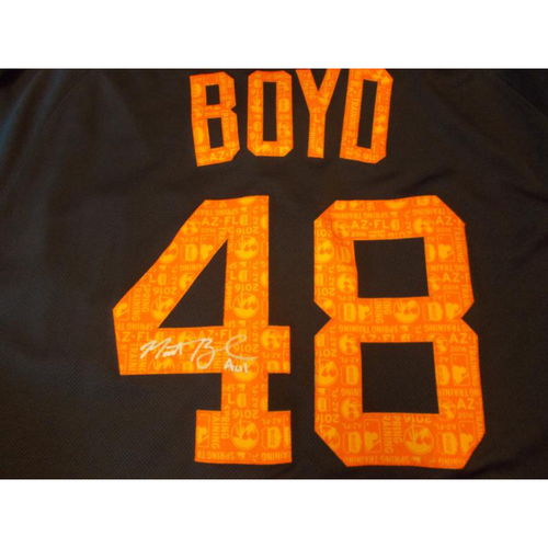 Autographed Game-Used Road Spring Training Jersey: Matt Boyd