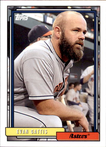 Photo of 2017 Topps Archives #252 Evan Gattis -- Astros post-season