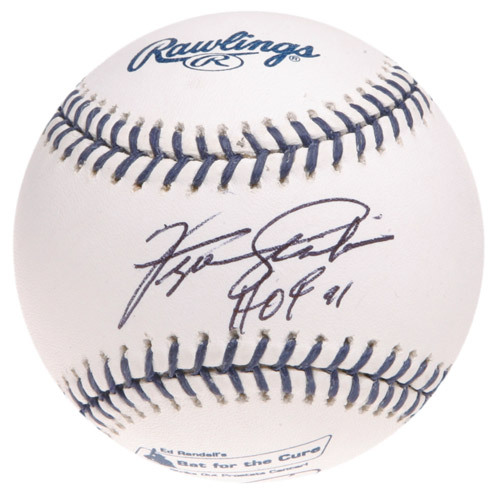 """Photo of Ed Randall's Fans For the Cure Auction: Fergie Jenkins Autographed Inscribed """"HOF 91"""" Baseball - Signed 2X"""