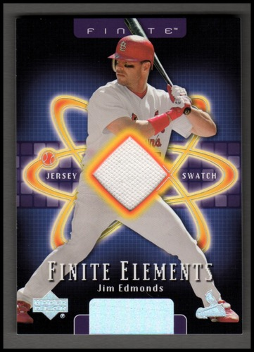 Photo of 2003 Upper Deck Finite Elements Game Jersey #JE Jim Edmonds