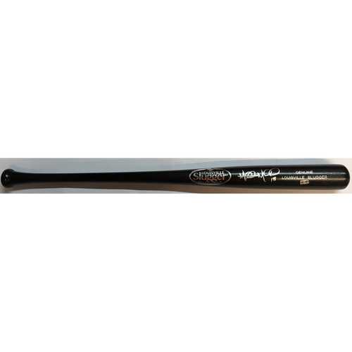 Photo of Mitch Moreland Autographed Black Louisville Slugger Bat
