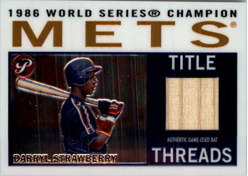 Photo of 2005 Topps Pristine Legends Title Threads Relics #DS Darryl Strawberry Bat B