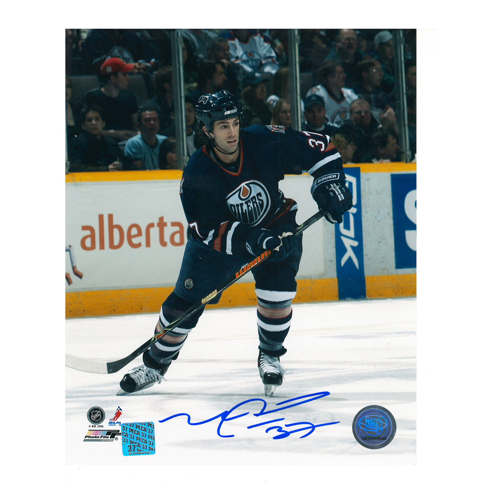 MICHAEL PECA Signed Edmonton Oilers 8 X 10 Photo - 70354