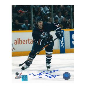 MICHAEL PECA Signed Edmonton Oilers 8 X 10 Photo - 70354