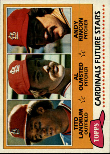 Photo of 1981 Topps #244 Tito Landrum RC/Al Olmsted RC/Andy Rincon RC