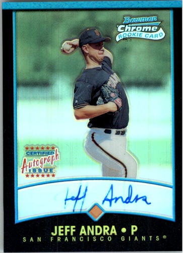 Photo of 2001 Bowman Chrome #341 Jeff Andra AU RC