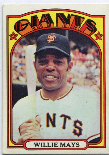 Photo of 1972 Topps #49 Willie Mays Hall of Famer