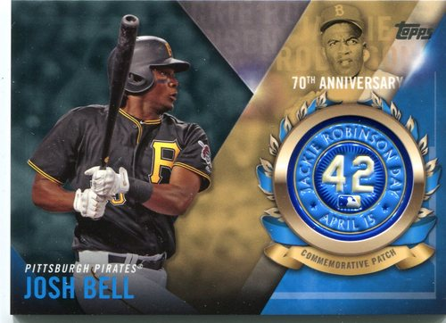 Photo of 2017 Topps Jackie Robinson Logo Patches #JRPCJBE Josh Bell