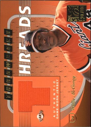 Photo of 2001 Donruss Elite Throwback Threads #TT32 Willie McCovey/Barry Bonds