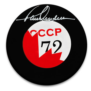 Paul Henderson Team Canada 1972 Summit Series Autographed Puck