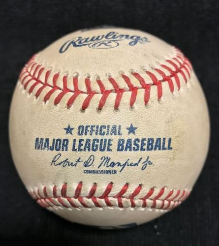 Photo of Game-Used Baseball from Pirates vs. Cubs on 9/16/2015 - Burnett to Fowler, Triple