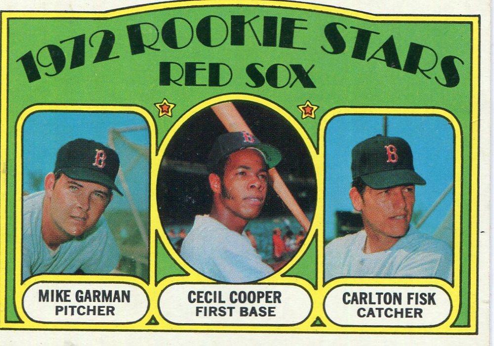 1972 Topps #79 Rookie Stars/Mike Garman/Cecil Cooper RC/Carlton Fisk RC