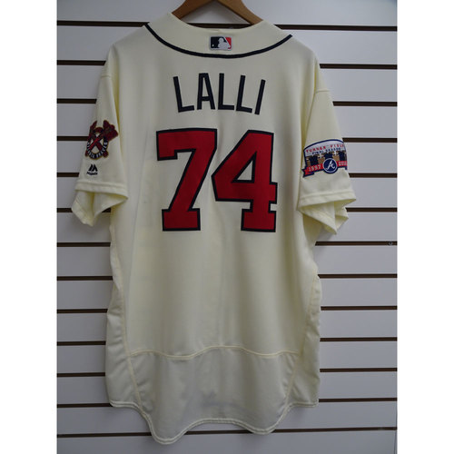 Photo of Blake Lalli Game-Used Jersey Worn during the Final Game at Turner Field