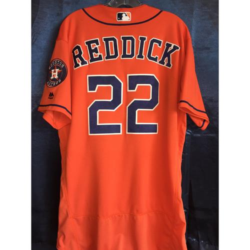Photo of 2017 Josh Reddick Game-Used Orange Jersey
