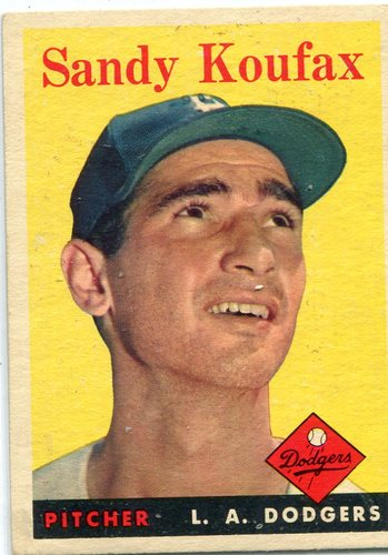 Photo of 1958 Topps #187 Sandy Koufax-- Hall of Famer