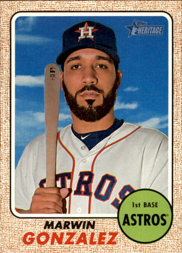 Photo of 2017 Topps Heritage #143 Marwin Gonzalez -- Astros post-season