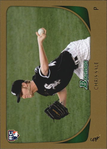 Photo of 2011 Bowman Gold #220 Chris Sale -- Red Sox post-season