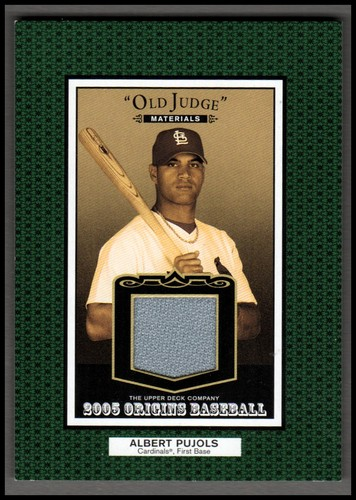 Photo of 2005 Origins Old Judge Materials Jersey #AP Albert Pujols
