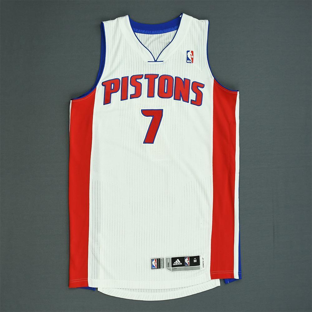 Brandon Jennings - Detroit Pistons - Game-Worn Jersey - 2013-14 NBA Season