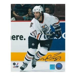 MICHAEL PECA Signed Edmonton Oilers 8 X 10 Photo - 70357