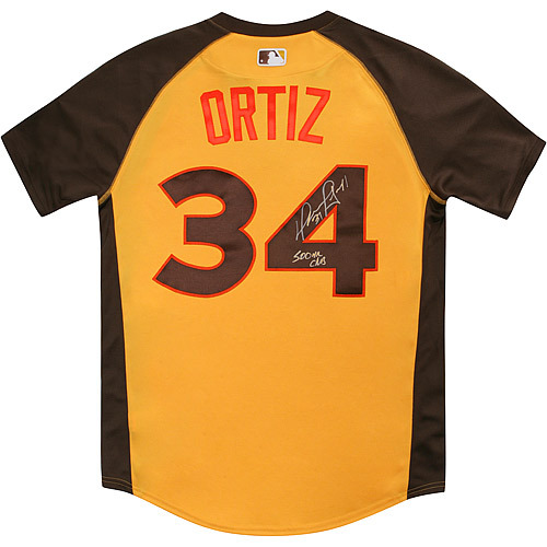 Photo of David Ortiz 2016 Major League Baseball Workout Day/Home Run Derby Autographed Jersey
