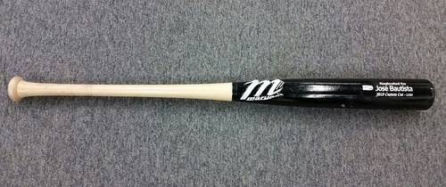Photo of Authenticated Jose Bautista Game Used Broken Baseball Bat - April 29, 2012 vs Seattle Mariners.