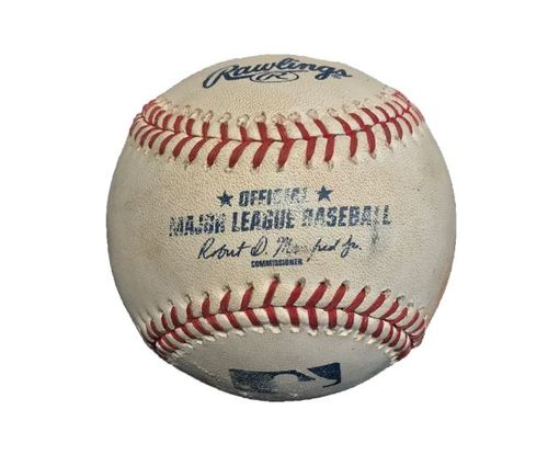 Photo of Game-Used Baseball from Pirates vs. Reds on 10/3/15 - Josh Harrison Triple