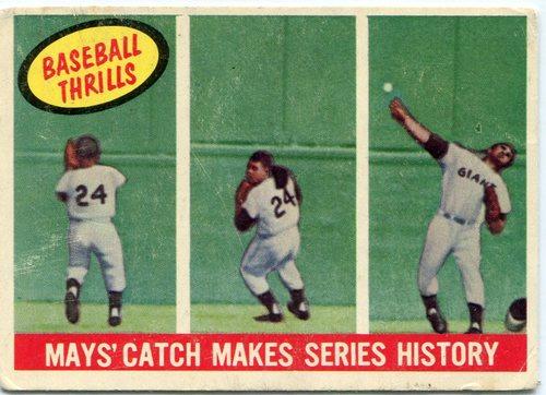 Photo of 1959 Topps #464 Willie Mays Baseball Thrills