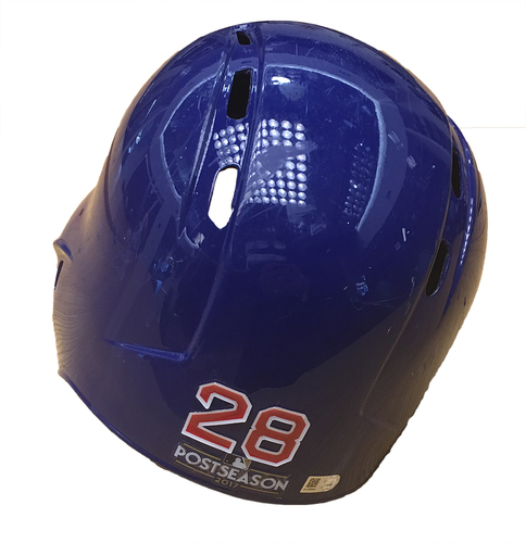 Photo of Kyle Hendricks 2017 Postseason Batting Helmet